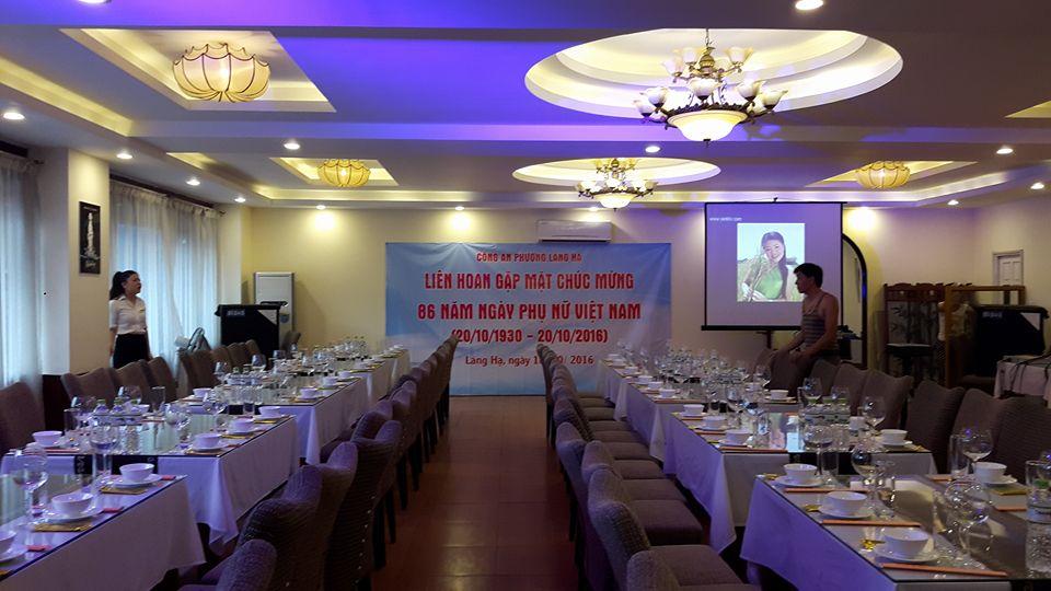 Tổ chức các sự kiện liên hoan, gặp mặt tại Hà Nội